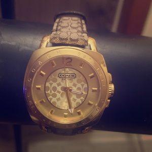 Coach  Boyfriend Gold Tone Ladies Watch